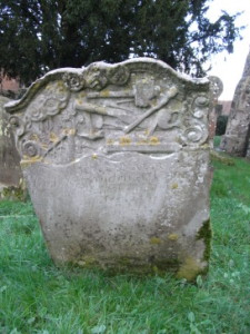 Richard Gransden A photo of the same grave stone taken January 2014. Cobham, Kent.