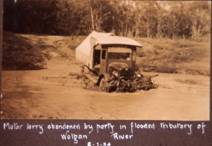 Mr Youngs Lory, Colo River Walk 1934. Photo taken by R. Bean.
