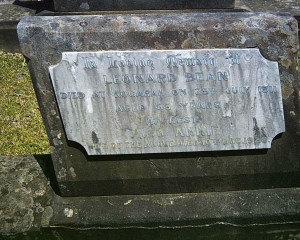 Leonard Bean and Annie Bean nee Ball, grave