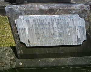 Leonard Bean and Annie Bean nee Ball, grave