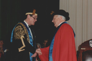 Honorary Doctorate UTS August 1988 newsroom Ronald Werner.