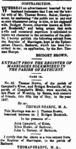 1852 'Advertising', Bathurst Free Press and Mining Journal (NSW : 1851 - 1904), 31 March, p. 3. , viewed 24 Apr 2016, http://nla.gov.au/nla.news-article62519719