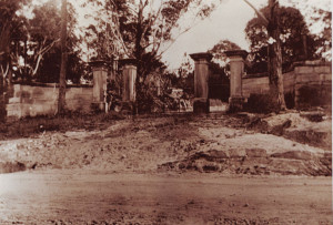 Fernleigh, front gate, still partially extant on Constitution Road. Bean private collection.