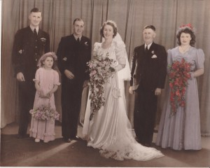 Garth Gransden and Freda Gransden nee Mulligan Wedding 1945.
