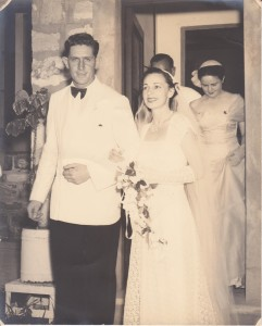 Stan Ipsen and Joan Ipsen nee Gransden wedding. 20 Dec 1952