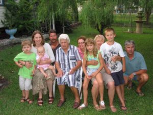 Four Generations. Shirley Guest nee Gransden, some of her Children, Grandchildren and Great Grandchildren.